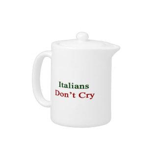 Los italianos no lloran