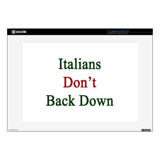 Los italianos no retroceden calcomanías para portátiles