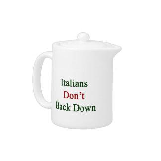 Los italianos no retroceden