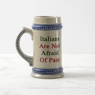 Los italianos no tienen miedo de dolor taza de café