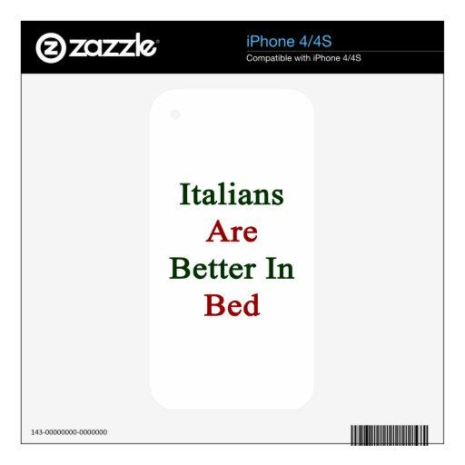 Los italianos son mejores en cama skin para el iPhone 4S