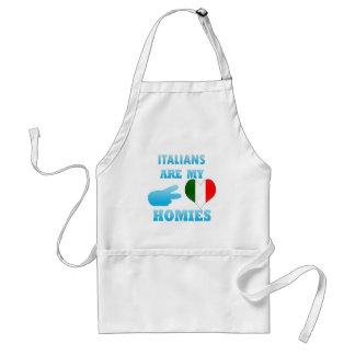 Los italianos son mi Homies Delantal