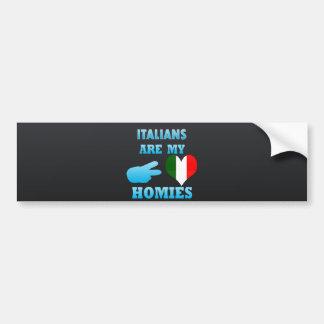 Los italianos son mi Homies Pegatina Para Auto