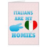 Los italianos son mi Homies Tarjeta