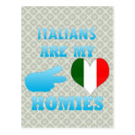 Los italianos son mi Homies Tarjeta Postal