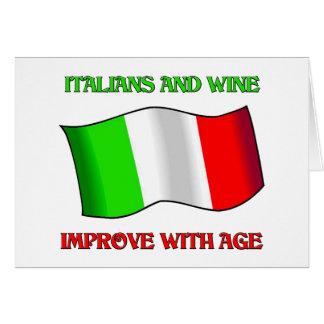Los italianos y el vino mejoran con edad felicitaciones