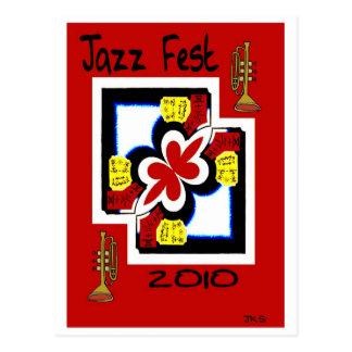 Los japoneses del Fest del jazz imprimen el Tarjeta Postal