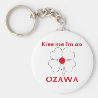 Los japoneses personalizados me besan que soy Ozaw Llavero Redondo Tipo Pin