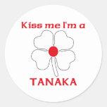 Los japoneses personalizados me besan que soy etiqueta redonda