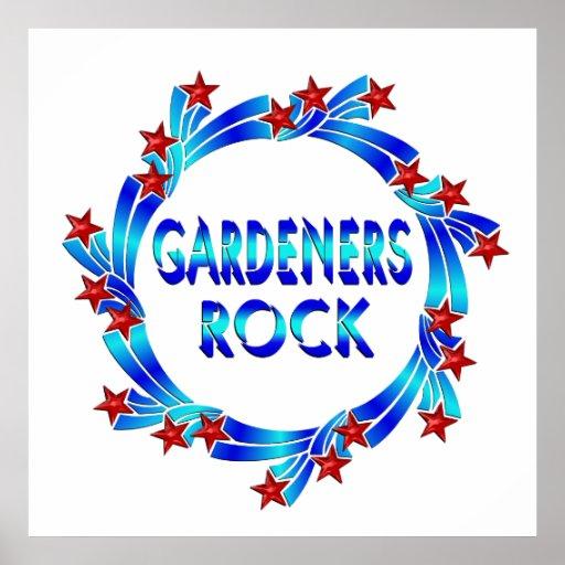 Los jardineros oscilan las estrellas rojas poster