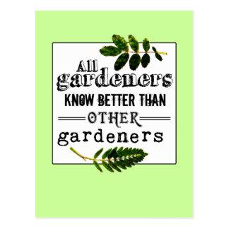 Los jardineros saben mejor que… tarjeta postal