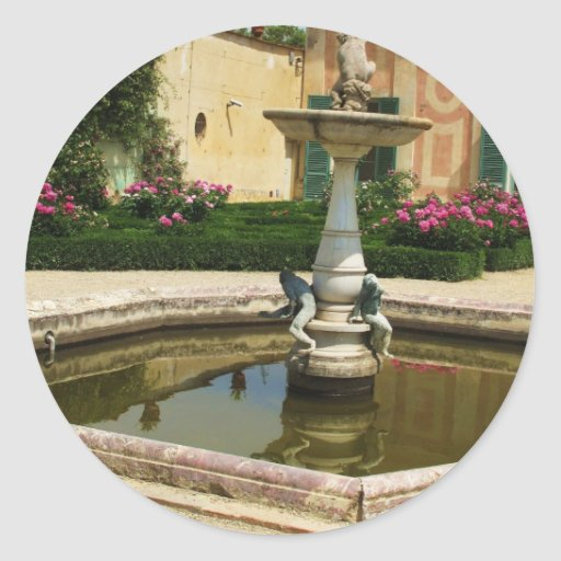 Los jardines de Boboli, Florencia Italia Pegatina Redonda