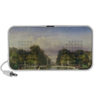 Los jardines de Tuileries, con el Arco del Triunfo Mini Altavoces