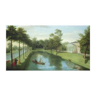 Los jardines del agua de la casa de Chiswick Lienzo Envuelto Para Galerías