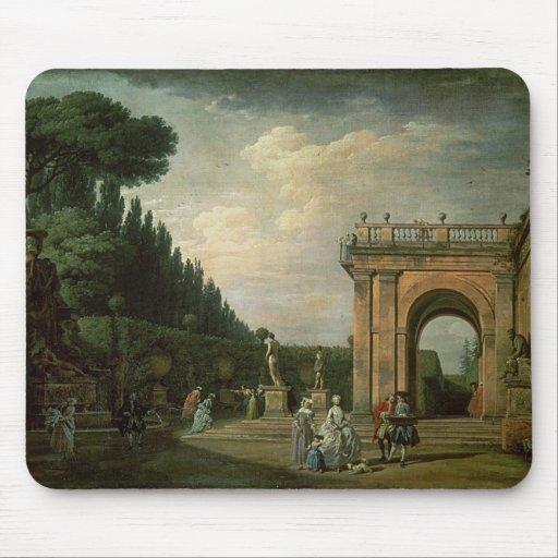 Los jardines del chalet Ludovisi, Roma, 1749 Alfombrillas De Ratones