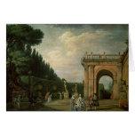 Los jardines del chalet Ludovisi, Roma, 1749 Tarjeta De Felicitación