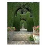 Los jardines famosos de Alhambra, Granada, España Tarjetas Postales