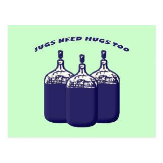 Los jarros necesitan abrazos también postales