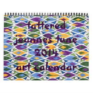 los jeannes hechos andrajos adaptan las series calendario de pared