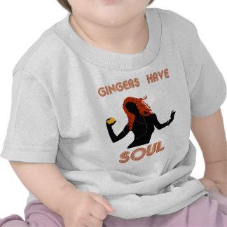 Los jengibres femeninos tienen alma camisetas
