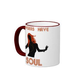 Los jengibres femeninos tienen alma tazas de café