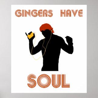 Los jengibres masculinos tienen alma posters