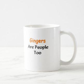 Los jengibres son gente también taza de café