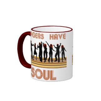 Los jengibres tienen tren de las almas tazas de café