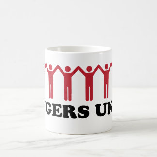 Los jengibres unen taza de café