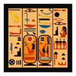 Los jeroglíficos egipcios su fiesta detallan la invitación 13,3 cm x 13,3cm