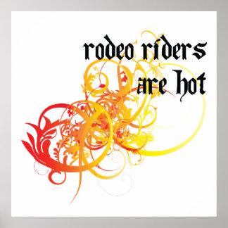 Los jinetes de rodeo son calientes posters