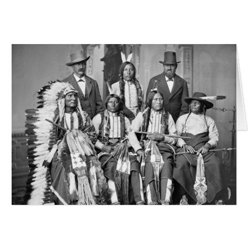 Los jóvenes manchados atan, 1875 tarjeta de felicitación