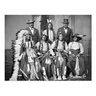Los jóvenes manchados atan, 1875 tarjetas postales