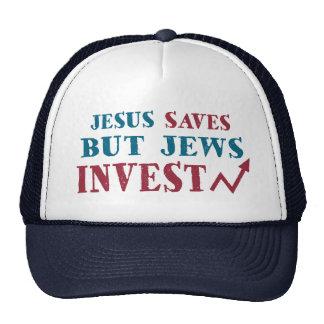 Los judíos invierten - humor judío de las finanzas gorras de camionero