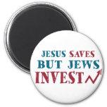 Los judíos invierten - humor judío de las finanzas iman de frigorífico