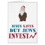 Los judíos invierten - humor judío de las finanzas felicitacion