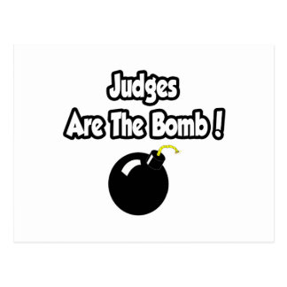 ¡Los jueces son la bomba! Postal