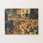 Los juegos Bruegel Midieval de los niños Rompecabeza