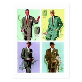 Los juegos de los hombres de la moda del vintage postales