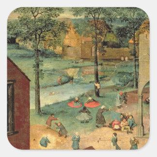 Los juegos de los niños, 1560 calcomanias cuadradas