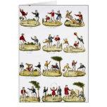 Los juegos de los niños, 1810 tarjeta de felicitación