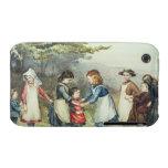 Los juegos de los niños, c.1880 (w/c en el papel) funda bareyly there para iPhone 3 de Case-Mate