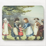Los juegos de los niños, c.1880 (w/c en el papel) mouse pads