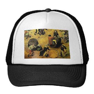 """Los """"juegos de los niños"""" de Pieter Bruegel Gorros Bordados"""