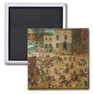 Los juegos de los niños de Pieter Bruegel la ancia Imán De Nevera