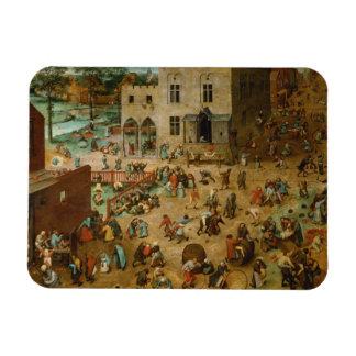 Los juegos de los niños de Pieter Bruegel la ancia Imanes Flexibles