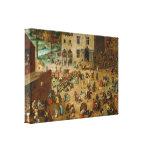 Los juegos de los niños de Pieter Bruegel la ancia Impresión En Lienzo Estirada
