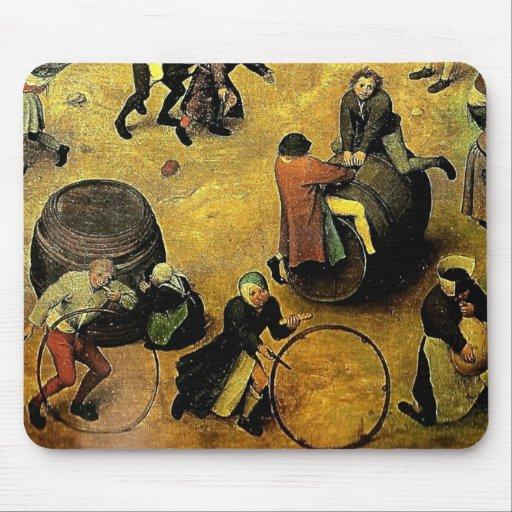 """Los """"juegos de los niños"""" de Pieter Bruegel Mousepads"""