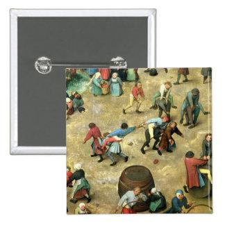 Los juegos de los niños: detalle de la parte infer pin cuadrada 5 cm