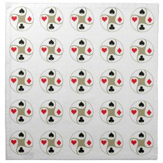 Los juegos del póker imprimieron servilletas
